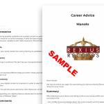 career advice report sample small
