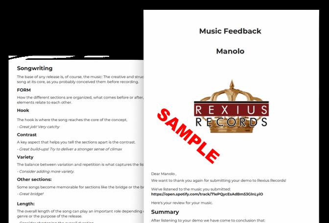 music feedback sample small